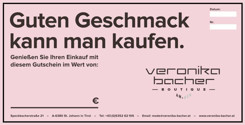 Gutschein zum verschenken von Veronika Bacher